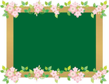 Flower blackboard