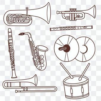 樂器套線描