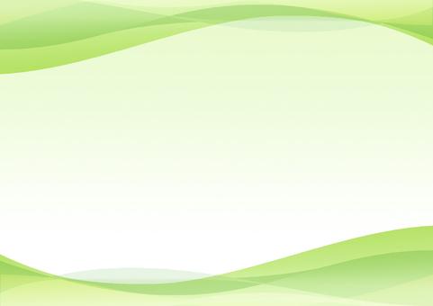 波浪背景綠色