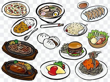 Food menu set 2