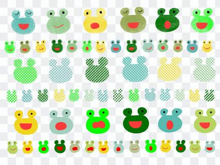Frog rainy season colored pencil dot set
