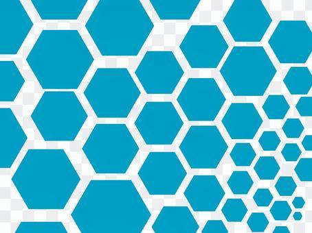 六角形のパターン素材