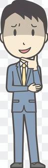 スーツ男性ネイビー-139-全身
