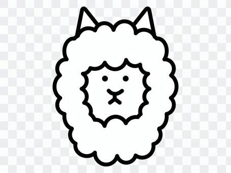 簡單的羊駝圖標