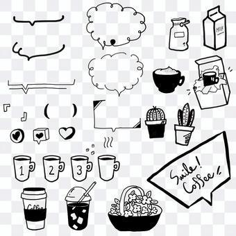 咖啡廳,手寫,咖啡,牛奶