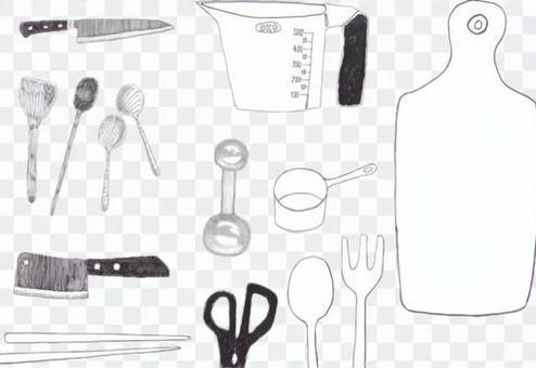 Kitchen knife measuring board cutting board kitchen goods