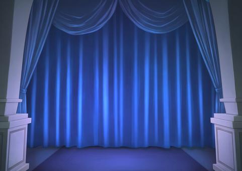 Stage curtain background illustration 03