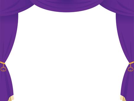 Halloween-style purple stage curtain