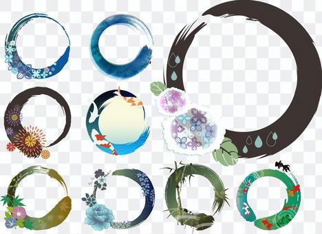 日式標題裝飾夏季3