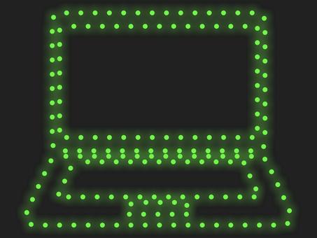 筆記本電腦照明圖標:綠色