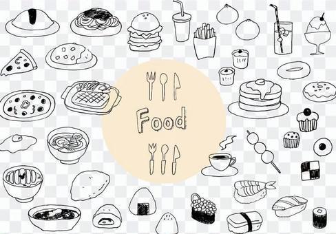 手寫的食物插圖集