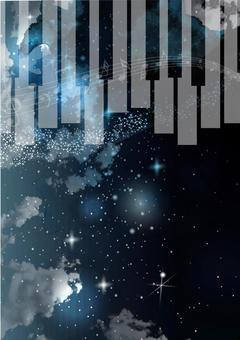 夜空和鍵盤