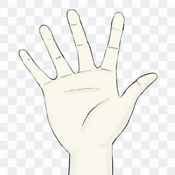 Right palm