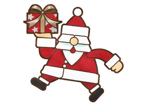 水彩觸摸聖誕老人 2 攜帶禮物