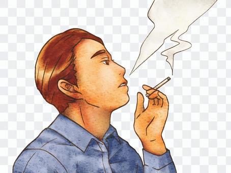 抽煙的男人