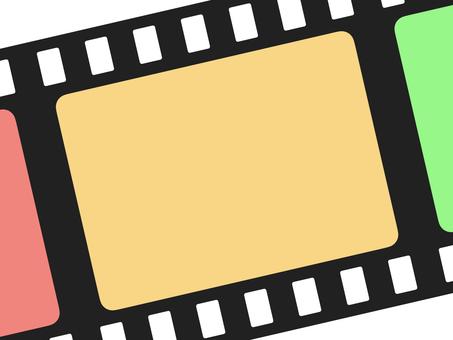 Diagonal Simple Colorful Film Frame: Large