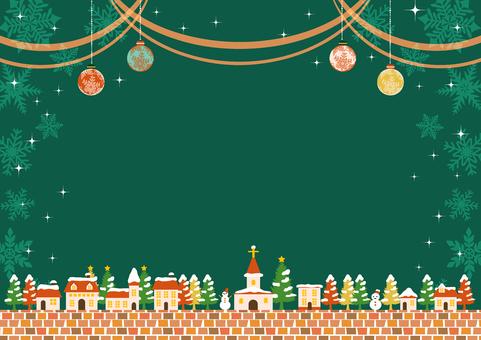 聖誕城市景觀和移動背景水平