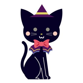 Halloween cute black cat