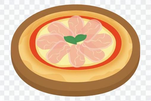 披薩生火腿