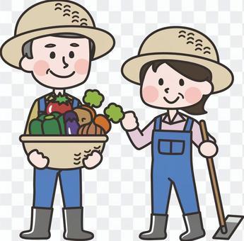 農作業男女
