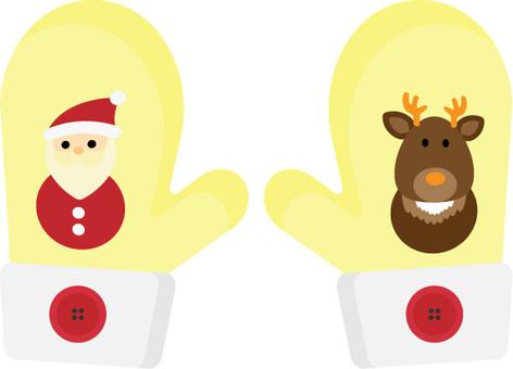 手套 05 手套聖誕老人和馴鹿