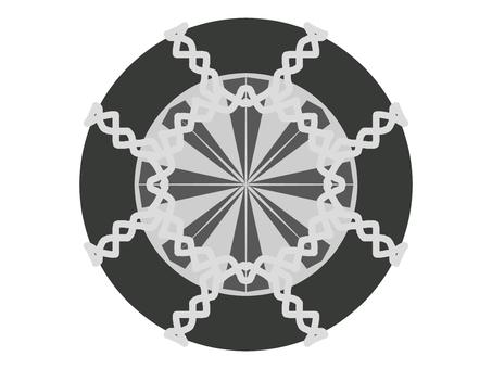 Tire chain illustration