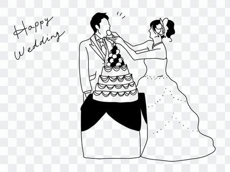 線描婚禮第一個字節