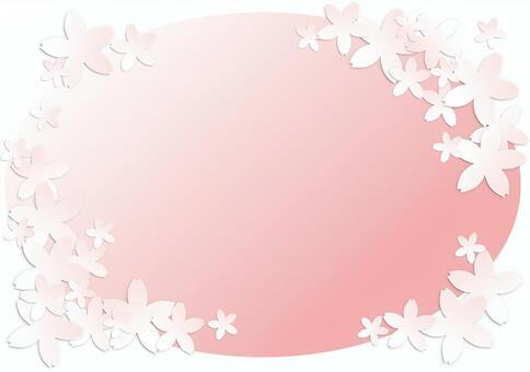 櫻花切割圖片卡