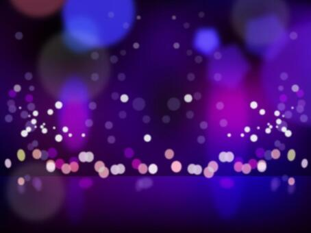 Glittering night view stage stage lighting background