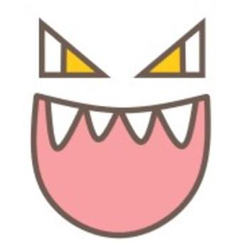 口中可怕的毒牙可怕的恐怖