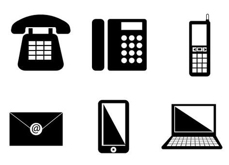 6 communication equipment icons