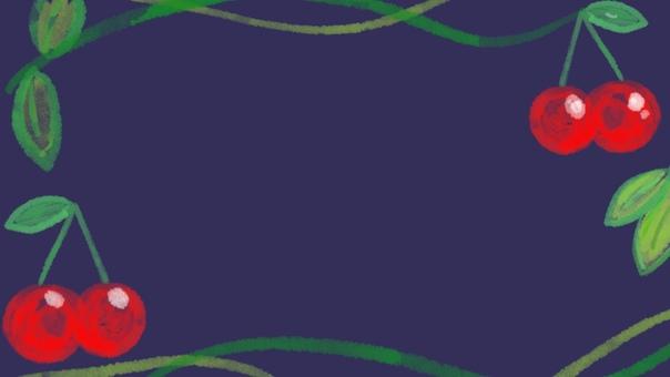 Cherry navy frame background