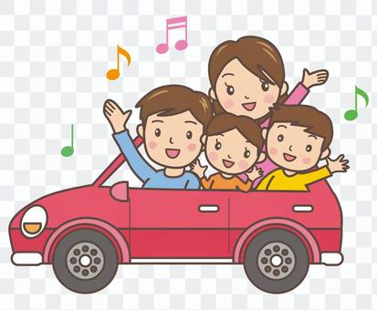 与家人开车GO!红色