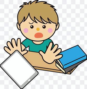 男孩10_09(放下平板電腦)