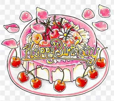 櫻桃生日蛋糕