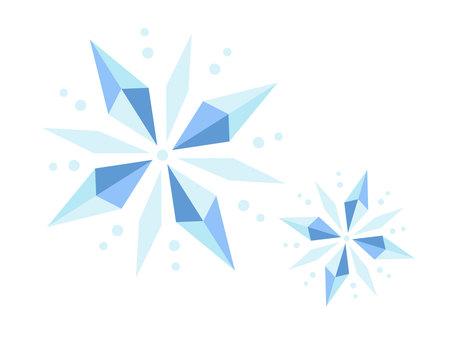 Crystal-like snowflake