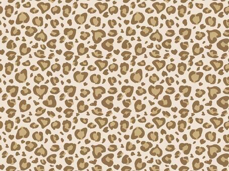 Heart's leopard pattern pastel 01
