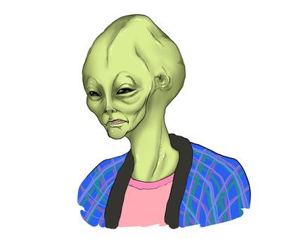 戴著漢服的外星人