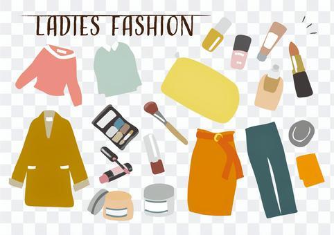 衣服時尚化妝品化妝時尚