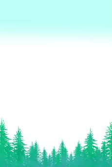 Forest postcard vertical