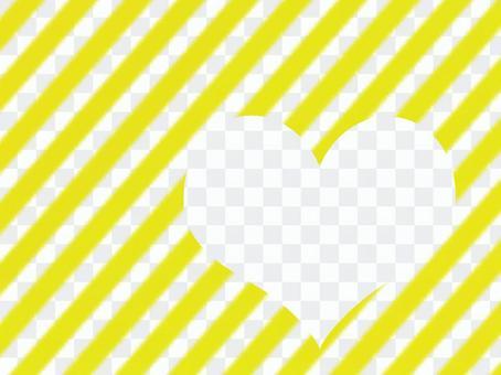 心臟背景黃色