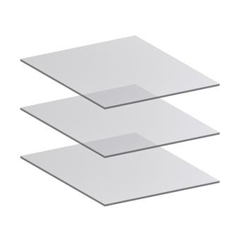Three-layer filter layer translucent transparent