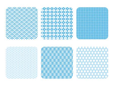 背景材料日本圖案色板材料設置淡藍色