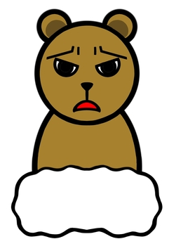 Bear with a troubled face