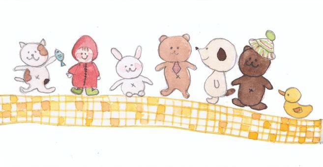 可愛的動物插圖1