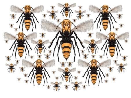 Horde of wasps or giant bee monsters