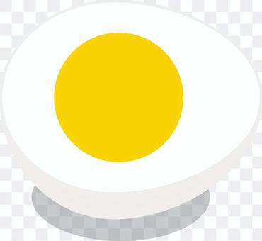 拉麵的配料煮雞蛋半切