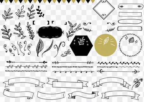 Handwritten material 054 leaf set