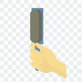 Hand with brush