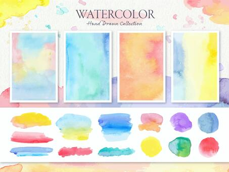 水彩顏料紋理背景設置